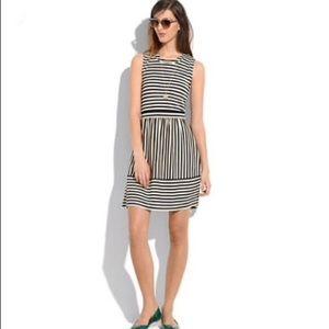 Madewell Hi Line Striped Duet Dress
